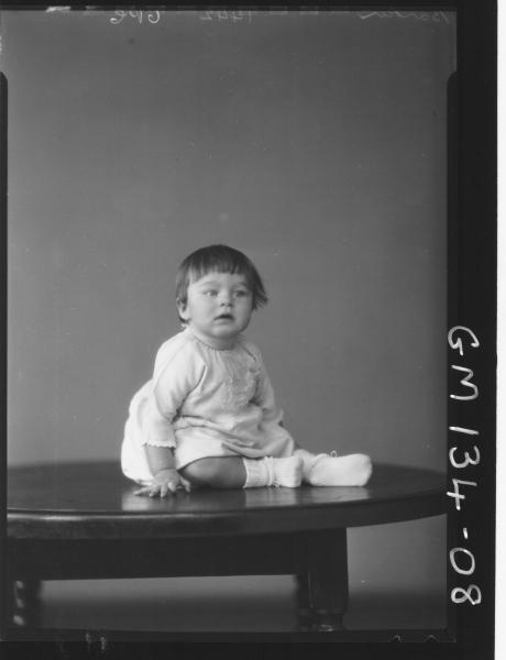 Portrait of child 'Barker'