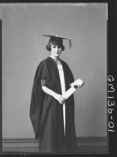 Portrait of woman in gown and cap 'Georgeson'