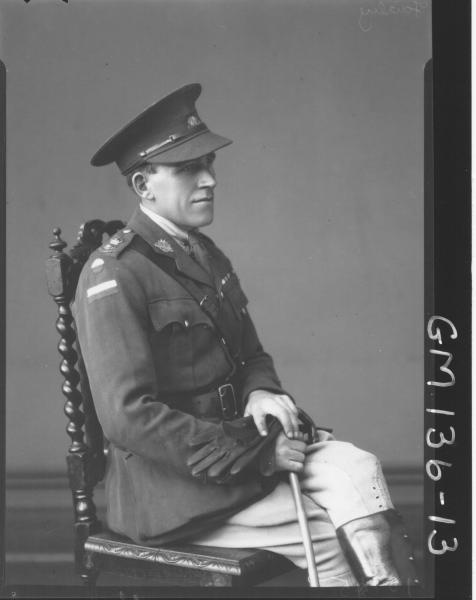 Portrait of army officer 'Fairley'