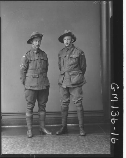 Portrait of two soldiers 'Jensen'