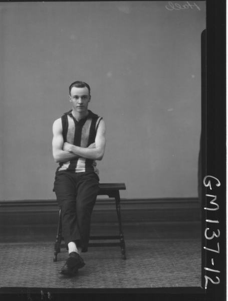 Portrait of footballer 'Hall'