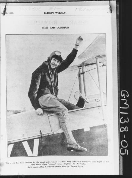 Copy from Elder's weekly of Amy 'Johnson'