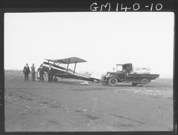 Aeroplane and truck
