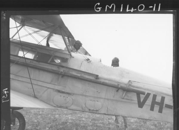 Aeroplane and pilot