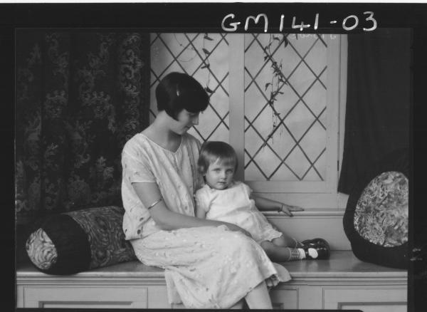 Portrait of woman and child 'Egan'