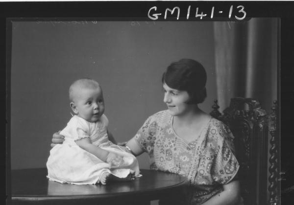 Portrait of woman and baby 'Eddy'