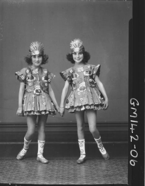 Portrait of two girls fancy dress 'Egan'