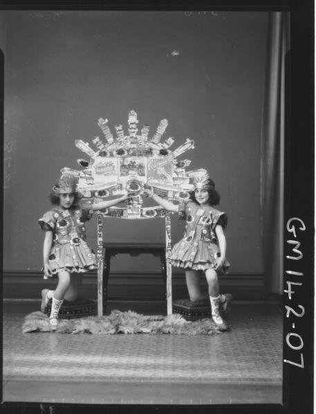 Portrait of two girls fancy dress 'Egan'