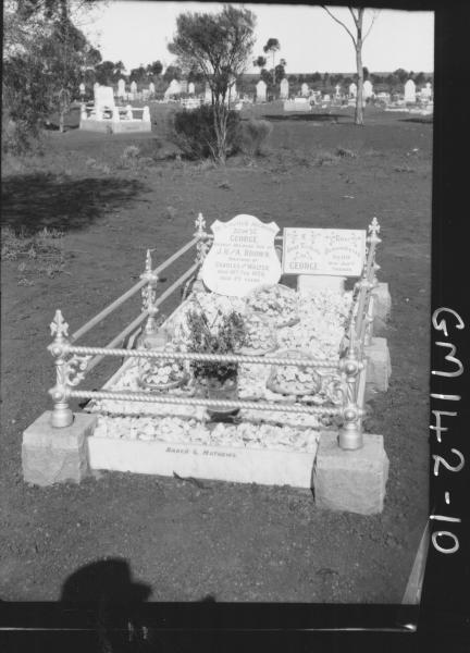 Grave of George Brown, son of  J.H. & A.  Brown