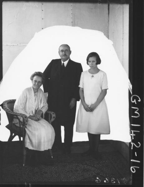 Portrait of man, woman and girl 'Brooke'