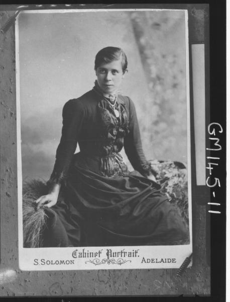 Copy portrait of woman taken S.Soloman Adelaide Studio 'Trabolt'