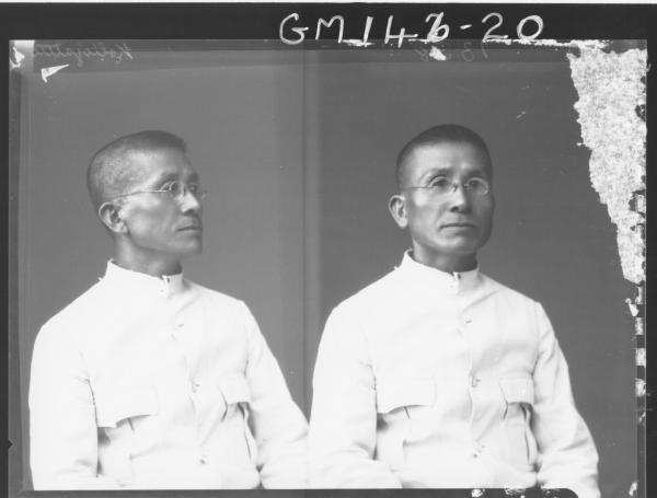 Portrait of Japanese man 'KolioJatte?'