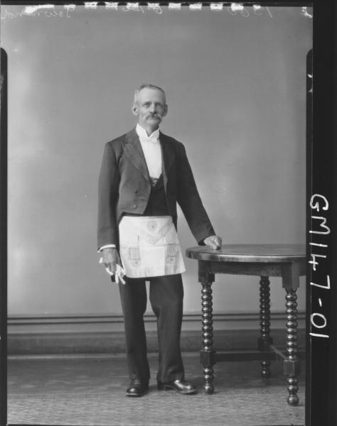 Portrait of man, Masonic 'Townsend'