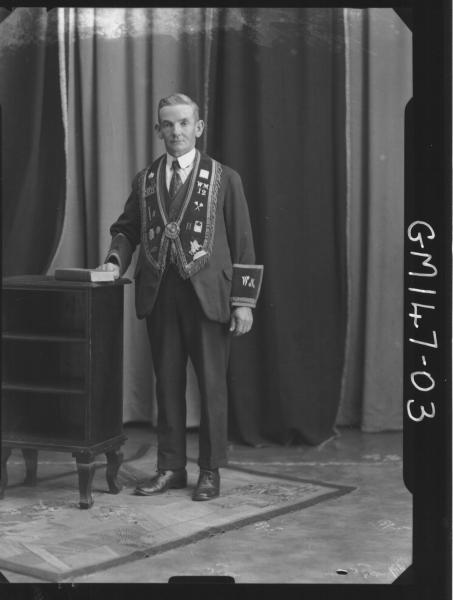 Portrait of man, Masonic '?'