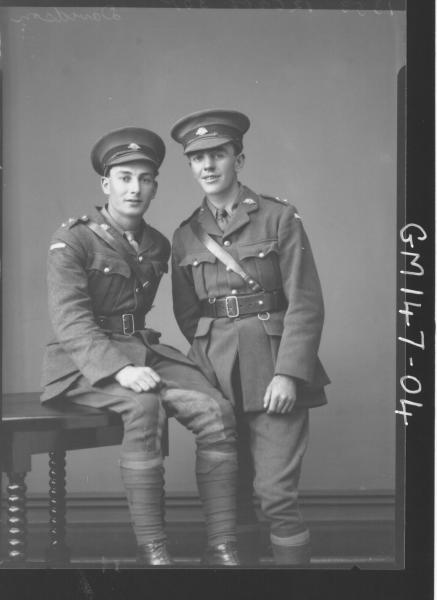 Portrait of two soldiers 'Davidson'