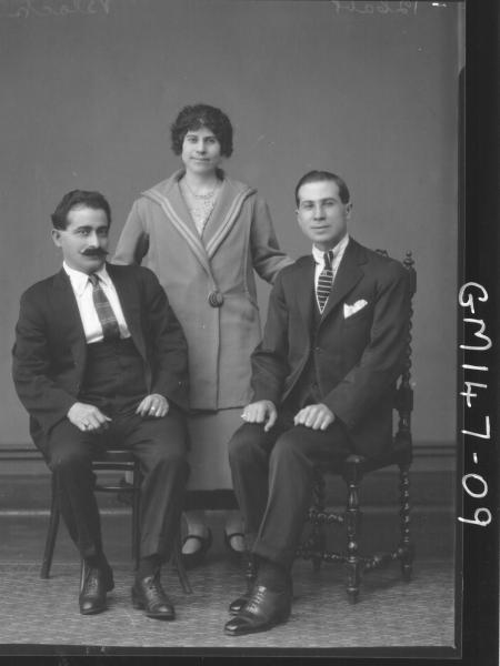 Portrait of two men and woman 'Black'