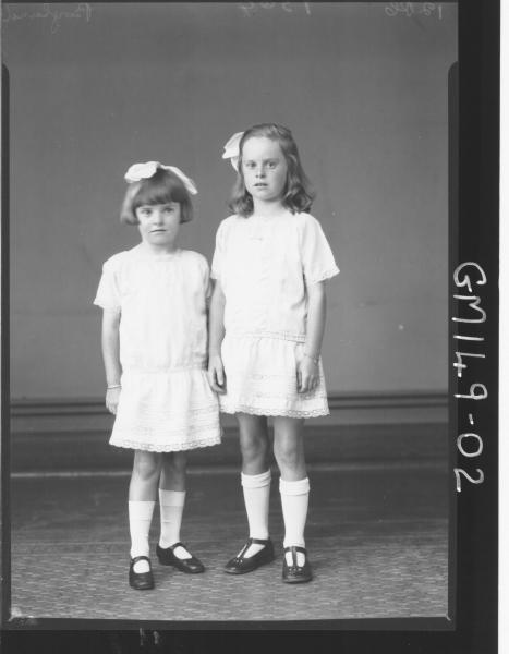 Portrait of two girls 'Boyland'