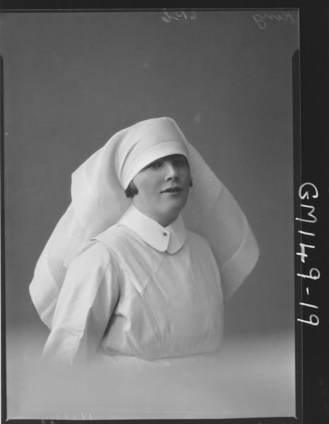 Portrait of Nurse 'King'