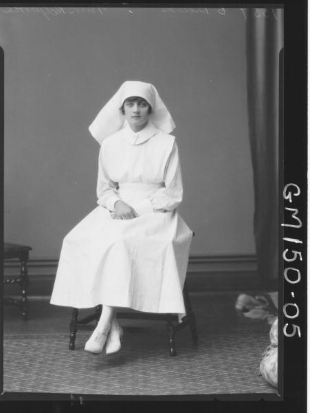 Portrait of Nurse 'McGarrie'