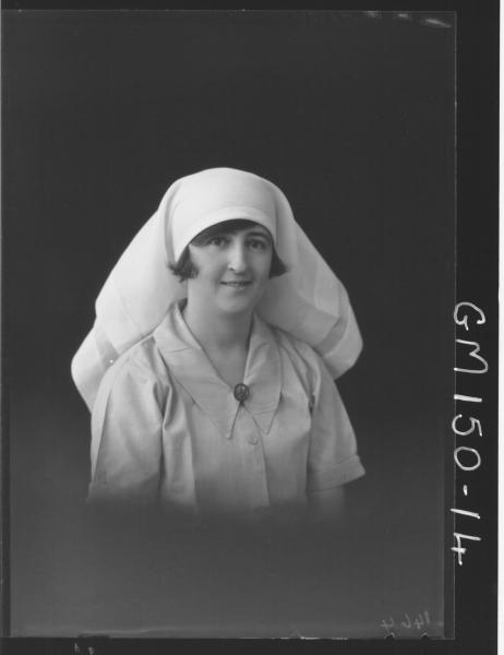 Portrait of Nurse 'Mathews'