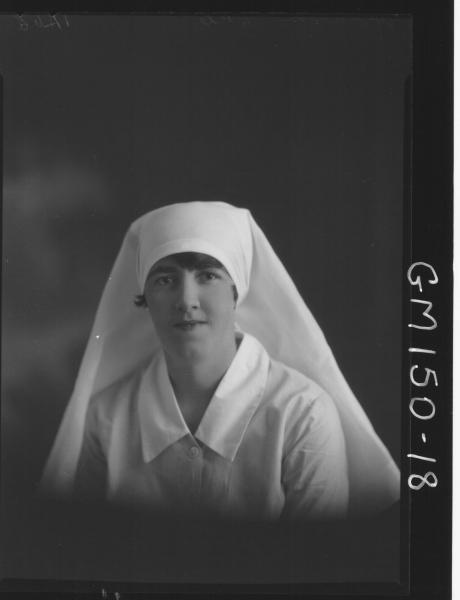 Portrait of Nurse 'McMahon'
