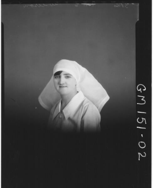 Portrait of Nurse 'Wilson'