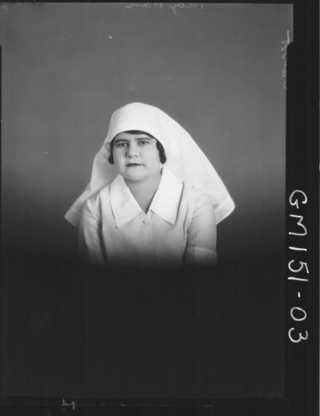 Portrait of Nurse 'Talbot'