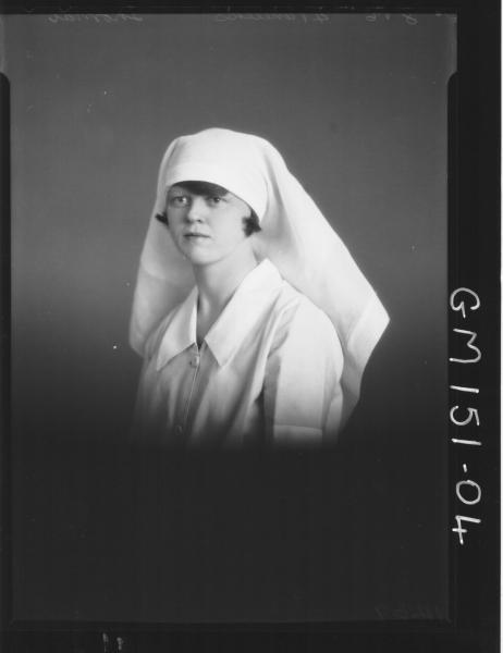 Portrait of Nurse 'Thomas'