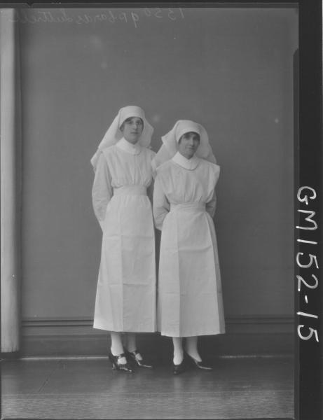 Portrait of two Nurses 'Luttrell'