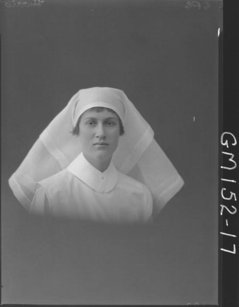 Portrait of Nurse 'Harris'
