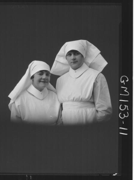 Portrait of two Nurses 'Richards' & 'Nicols'