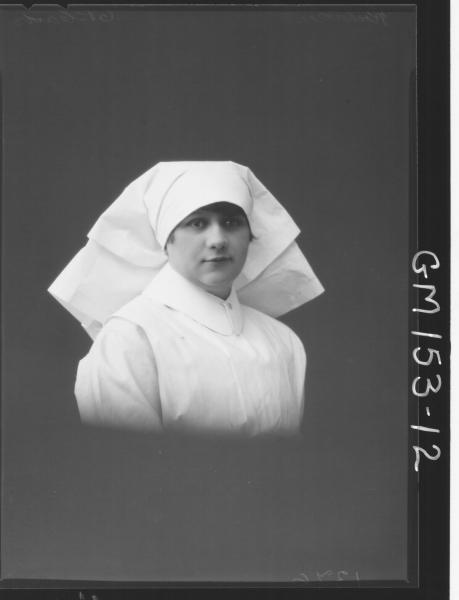 Portrait of Nurse 'Richardson'