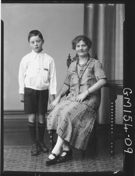 Portrait of woman and child 'Allen'