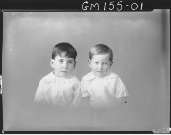 Portrait of two children 'George'