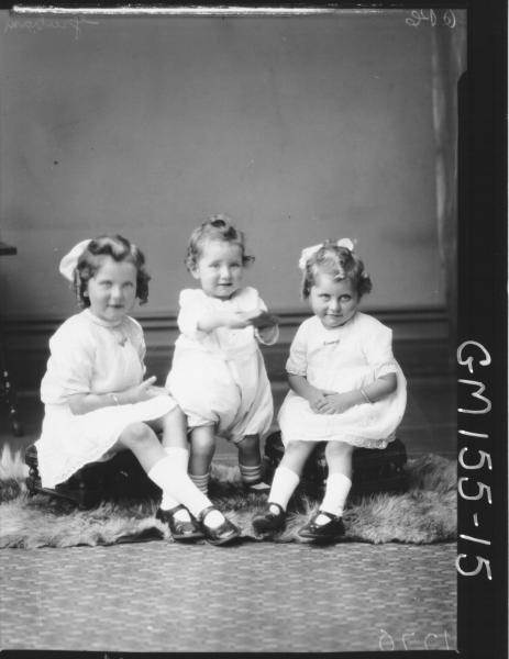 Portrait of three children 'Graham''