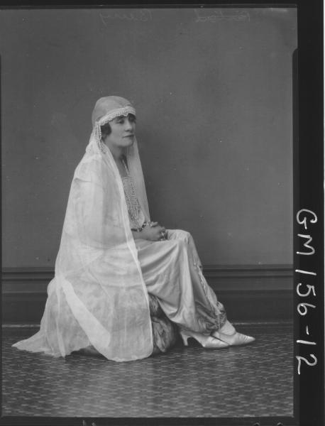 Portrait of woman fancy dress, 'Berry'