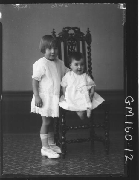 Portrait of two children 'Carrol'