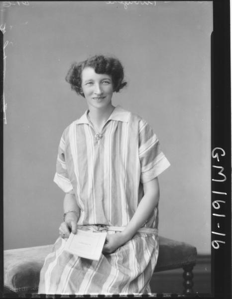 Portrait of woman 'Clark'