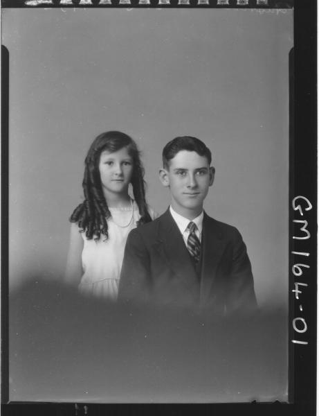 Portrait of boy and girl 'Austin'
