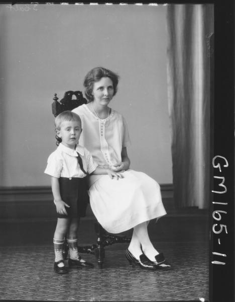 Portrait of woman and child 'Cecil'