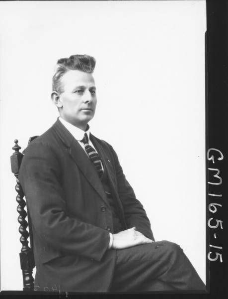 Portrait of man 'Cook'