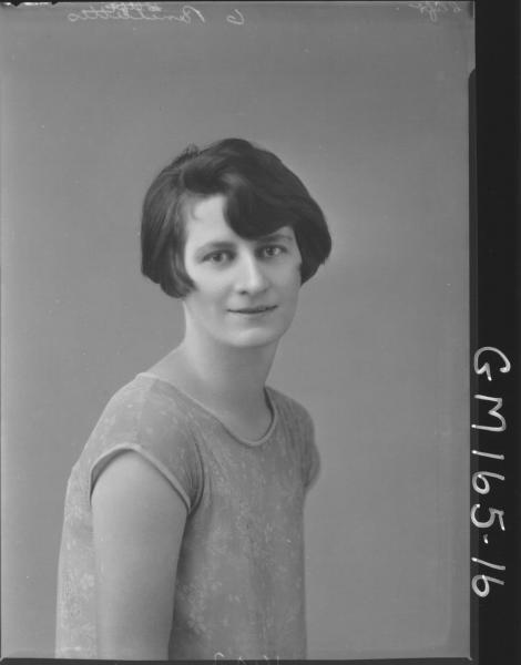 Portrait of woman 'Clift'