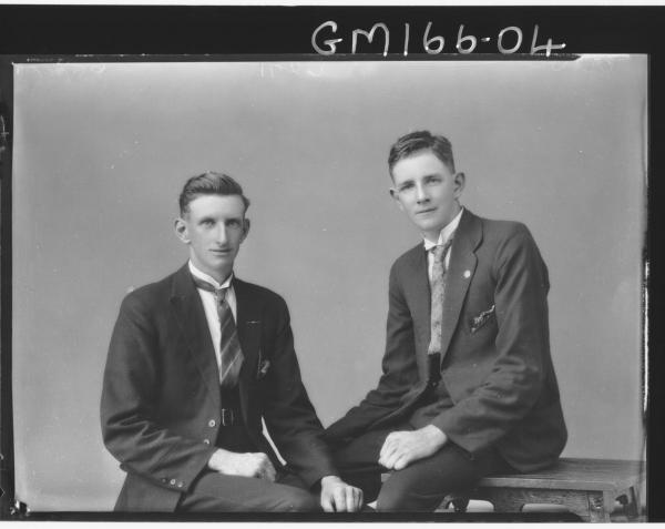 Portrait of two men 'Crowe'