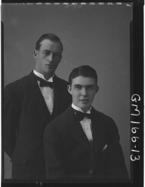 Portrait of two men 'Watson'