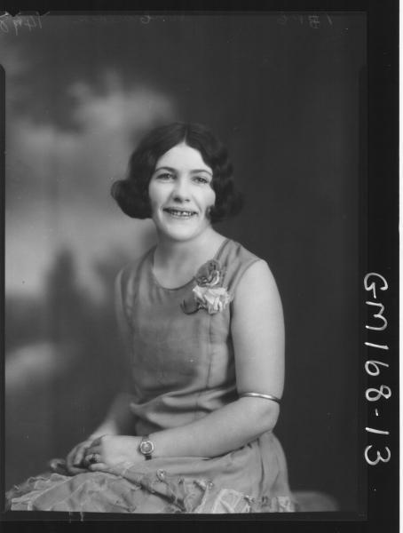 Portrait of woman 'McCullock'