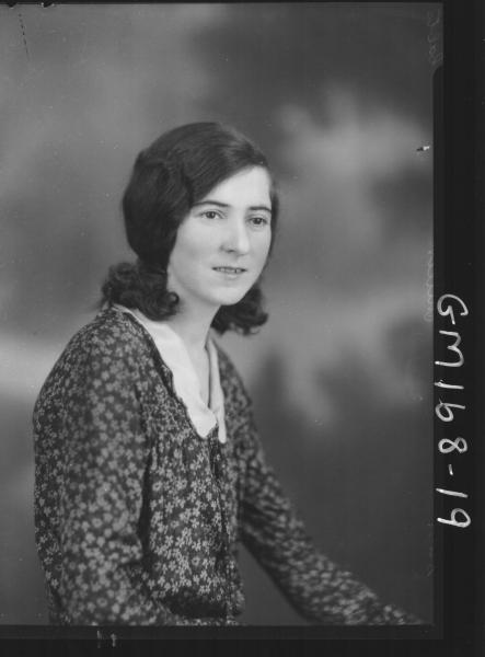 Portrait of woman 'Miller'