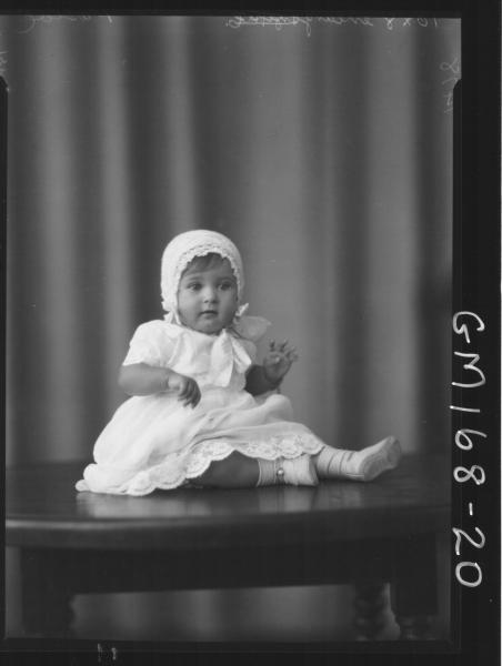 Portrait of baby 'Pascoe'