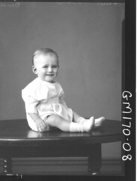 Portrait of baby 'Bourke'