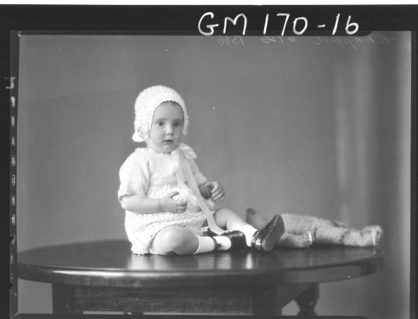 Portrait of baby 'Chappel'