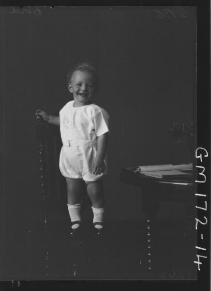 Portrait of child, 'Bird'
